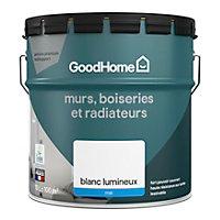 Peinture murs boiseries et métal GoodHome haute résistance blanc mat 10L