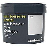 Peinture murs boiseries et métal GoodHome haute résistance blanc mat 2,5L
