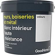 Peinture murs, boiseries et métal GoodHome haute résistance blanc velours 5L