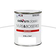 Peinture Murs et boiseries Blanc Brillant 0,75L