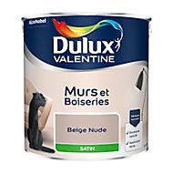Peinture murs et boiseries Dulux Valentine beige nude satin 2,5L