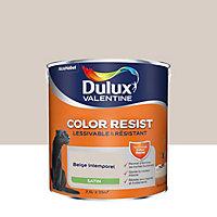 Peinture murs et boiseries Dulux Valentine Color Resist beige intemporel satin 2,5L