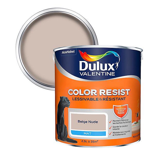 Peinture Murs Et Boiseries Dulux Valentine Color Resist Beige Nude Mat 2 5l Castorama