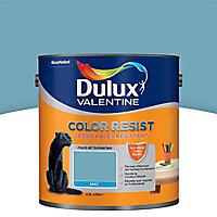 Peinture murs et boiseries Dulux Valentine Color resist bleu verre mat 2,5L