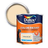 Peinture murs et boiseries Dulux Valentine Color Resist crème de lait mat 2,5L