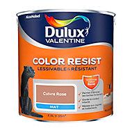 Peinture murs et boiseries Dulux Valentine Color Resist cuivre rose mat 2,5L