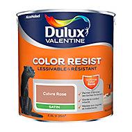 Peinture murs et boiseries Dulux Valentine Color Resist cuivre rose satin 2,5L