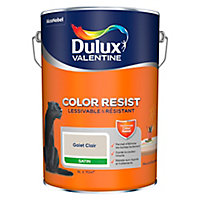 Peinture murs et boiseries Dulux Valentine Color Resist galet clair satin 5L