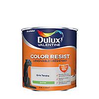 Peinture murs et boiseries Dulux Valentine Color Resist gris tendre satin 2,5L