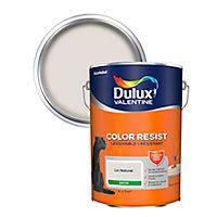 Peinture murs et boiseries Dulux Valentine Color Resist lin naturel satin 5L