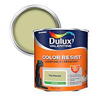 Peinture murs et boiseries Dulux Valentine Color Resist thé macha satin 2,5L