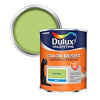 Peinture murs et boiseries Dulux Valentine Color Resist vert kiwi mat 0,75L