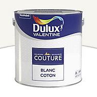 Peinture murs et boiseries Dulux Valentine Couture blanc coton satiné 2L