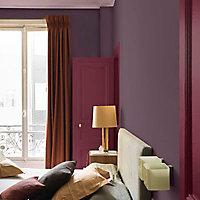 Peinture murs et boiseries Dulux Valentine Couture cuir bordeaux satiné 0,5L