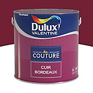 Peinture murs et boiseries Dulux Valentine Couture cuir bordeaux satiné 2L