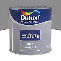 Peinture murs et boiseries Dulux Valentine Couture gris anglais satiné 2L
