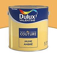 Peinture murs et boiseries Dulux Valentine Couture jaune ambrée satiné 2L