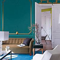 Peinture murs et boiseries Dulux Valentine Couture pashmina turquoise satiné 0,5L