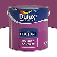 Peinture murs et boiseries Dulux Valentine Couture pourpre de venise satiné 2L