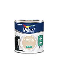 Peinture murs et boiseries Dulux Valentine Crème de couleur biscuit satin 0,5L