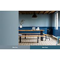 Peinture murs et boiseries Dulux Valentine Crème de couleur bleu paon mat 2,5L