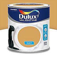 Peinture murs et boiseries Dulux Valentine Crème de couleur jaune retro mat 0,5L