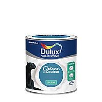 Peinture murs et boiseries Dulux Valentine Crème de couleur marée haute satin 0,5L