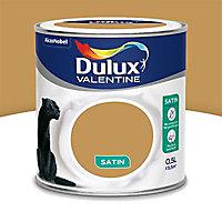 Peinture murs et boiseries Dulux Valentine Crème de couleur ocre doré satin 0,5L
