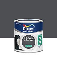 Peinture murs et boiseries Dulux Valentine Crème de couleur poivre satin 0,5L