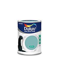 Peinture murs et boiseries Dulux Valentine Crème de couleur vert jade satin 1,25L