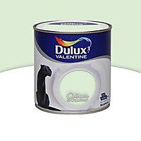 Peinture murs et boiseries Dulux Valentine Crème de couleur verte d'eau satin 0,5L