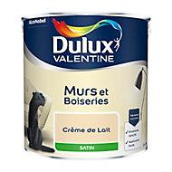 Peinture murs et boiseries Dulux Valentine crème de lait satin 2,5L