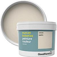 Peinture murs et boiseries GoodHome beige Cancún satin 2,5L