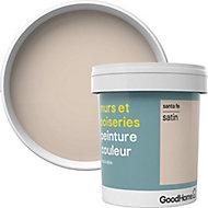 Peinture murs et boiseries GoodHome beige Sante Fe satin 0,75L