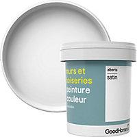 Peinture murs et boiseries GoodHome blanc Alberta satin 0,75L