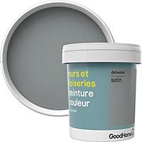 Peinture murs et boiseries GoodHome gris Delaware satin 0,75L