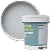 Peinture murs et boiseries GoodHome gris Melville satin 0,75L