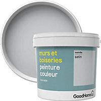 Peinture murs et boiseries GoodHome gris Melville satin 5L