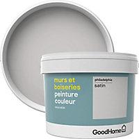 Peinture murs et boiseries GoodHome gris Philadelphia satin 2,5L