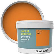 Peinture murs et boiseries GoodHome orange Valencia satin 2,5L
