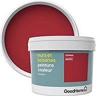 Peinture murs et boiseries GoodHome rouge Chelsea satin 2,5L
