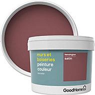 Peinture murs et boiseries GoodHome rouge Kensington satin 2,5L