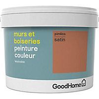 Peinture murs et boiseries GoodHome rouge Pimlico satin 2,5L