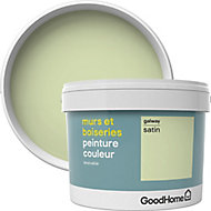 Peinture murs et boiseries GoodHome vert Galway satin 2,5L