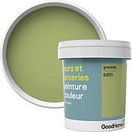 Peinture murs et boiseries GoodHome vert Greenhills satin 0,75L