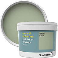 Peinture murs et boiseries GoodHome vert Limerick satin 2,5L