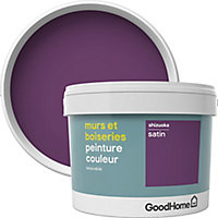 Peinture murs et boiseries GoodHome violet Shizuoka satin 2,5L