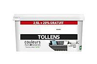 Peinture murs et boiseries Tollens blanc satin 2,5L +20% gratuit