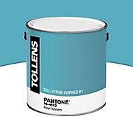 Peinture murs et boiseries Tollens Pantone 16-4612 reef waters satin 2L
