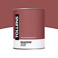 Peinture murs et boiseries Tollens Pantone 18-1438 marsala satin 1L
